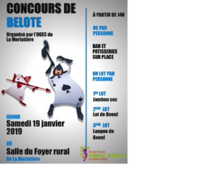 Concours de belote @ Salle du Foyer Rural - La Merlatière